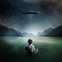 Boy-and-UFO-ipad-4-wallpaper-ilikewallpaper_com